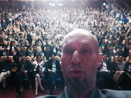 Patrick Pennefather's selfie in China