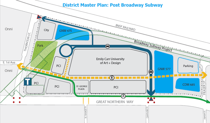 Great Northern Way Campus Master Plan Post Broadway Subway