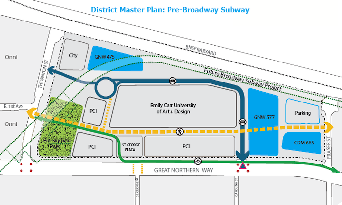 Great Northern Way Campus Master Plan Pre Broadway Subway