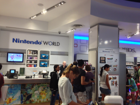 Isa at Nintendo World