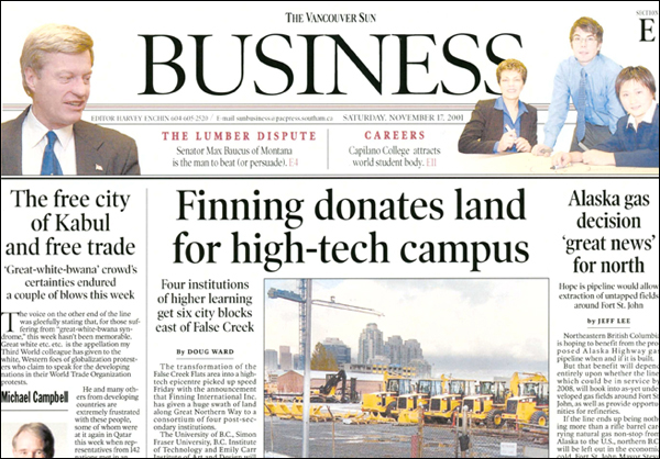 Finning International Inc. donates land for CDM campus