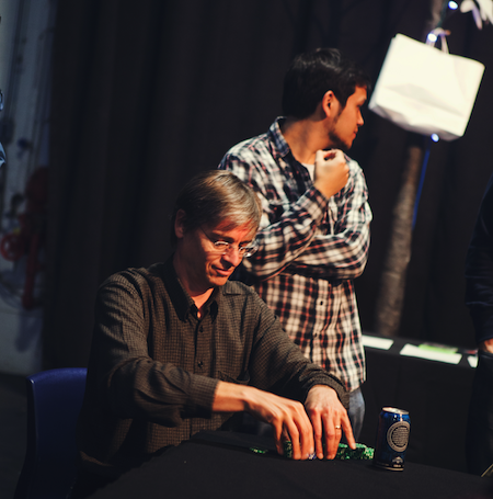 Director Richard Smith Counting His Poker Chips