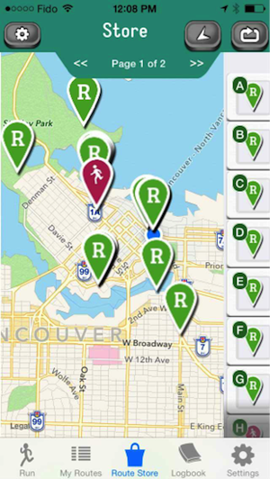 Find a running route with RunGo