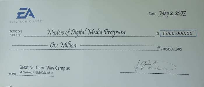Electronic Arts Announces $1 Million Dollar Grant to the Masters of Digital Media Program